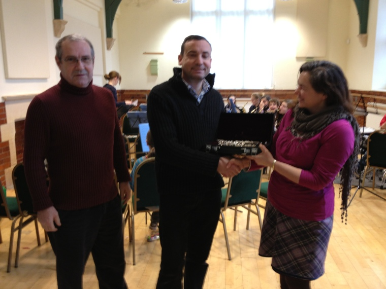 New oboe is presented to CWA